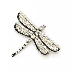 Janesich Art Deco Diamond and Enamel Dragonfly Brooch by Janesich - 431959