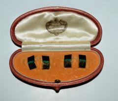 Janesich Janesich 18K Gold Jade Cuff Links in original Box - 1953130