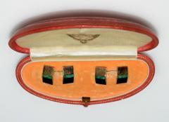 Janesich Janesich 18K Gold Jade Cuff Links in original Box - 1953136