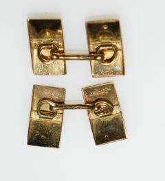 Janesich Janesich 18K Gold Jade Cuff Links in original Box - 1953957