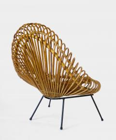 Janine Abraham Dirk Jan Rol Janine Abraham and Dirk Jan Rol French Rattan Lounge Chair for Edition Rougier - 1211466