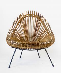 Janine Abraham Dirk Jan Rol Janine Abraham and Dirk Jan Rol French Rattan Lounge Chair for Edition Rougier - 1211469