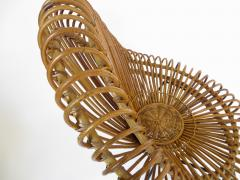 Janine Abraham Dirk Jan Rol Janine Abraham and Dirk Jan Rol French Rattan Lounge Chair for Edition Rougier - 1211470