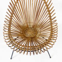Janine Abraham Dirk Jan Rol Janine Abraham and Dirk Jan Rol French Rattan Lounge Chair for Edition Rougier - 1211472
