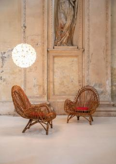 Janine Abraham Dirk Jan Rol Pair of wicker lounge chairs attributed to Janine Abraham - 1663312