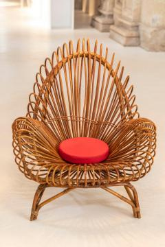 Janine Abraham Dirk Jan Rol Pair of wicker lounge chairs attributed to Janine Abraham - 1663334