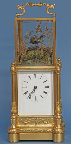 Japy Freres c 1870 Rare Automated Singing Bird Carriage Clock - 1276555