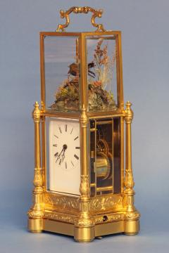 Japy Freres c 1870 Rare Automated Singing Bird Carriage Clock - 1276583