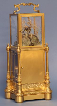 Japy Freres c 1870 Rare Automated Singing Bird Carriage Clock - 1276586
