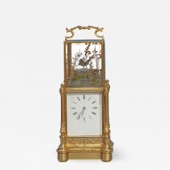 Japy Freres c 1870 Rare Automated Singing Bird Carriage Clock - 1277667