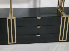 Jean Paul Barray Kim Moltzer Rare Kim Moltzer French Lacquer and brass shelves 1970s - 1114854