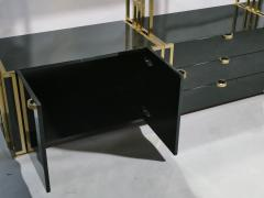 Jean Paul Barray Kim Moltzer Rare Kim Moltzer French Lacquer and brass shelves 1970s - 1114856