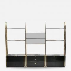 Jean Paul Barray Kim Moltzer Rare Kim Moltzer French Lacquer and brass shelves 1970s - 1115201