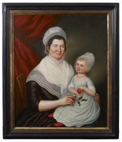 Jeffrey Tillou Antiques Charles Peale Polk Portrait of Mrs Jacob Ten Broeck and Daughter - 887248