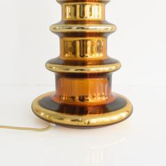 Johansfors Glasbruk JOHANSFORS PAIR OF GOLD MERCURY GLASS LAMPS SWEDEN 1960  - 1867700