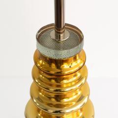 Johansfors Glasbruk JOHANSFORS PAIR OF GOLD MERCURY GLASS LAMPS SWEDEN 1960  - 1867701