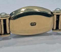 John Brogden John Brogden Gold Carbuncle and Pearl Bracelet C 1855 - 1189329