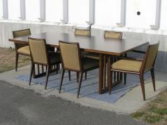 John Widdicomb Co Dining Table With Six Chairs By T H Robsjohn Gibbings For