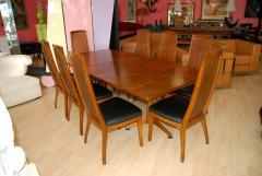 John Widdicomb Co Dining Room Table And Eight Chairs
