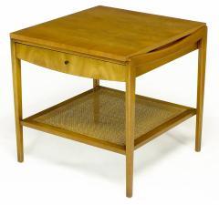 John Widdicomb Co Pair Widdicomb Bleached Walnut Cane Single Drawer End Tables - 203715