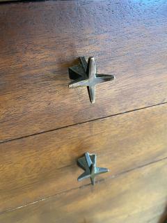 John Widdicomb Co Widdicomb Furniture Co American Modern Walnut and Bronze Dresser John Widdecomb - 1487375