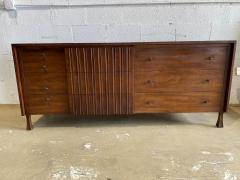 John Widdicomb Co Widdicomb Furniture Co American Modern Walnut and Bronze Dresser John Widdecomb - 1487376