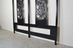 John Widdicomb Co Widdicomb Furniture Co Bert England Orientation Group Carved Ebonized Mahogany Tall King Headboard - 1920413