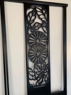John Widdicomb Co Widdicomb Furniture Co Bert England Orientation Group Carved Ebonized Mahogany Tall King Headboard - 1920417
