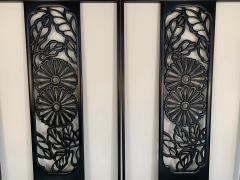 John Widdicomb Co Widdicomb Furniture Co Bert England Orientation Group Carved Ebonized Mahogany Tall King Headboard - 1920418