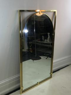 John Widdicomb Co Widdicomb Furniture Co MODERNIST BRASS FRAMED MIRROR DESIGNED BY JOHN WIDDICOMB - 1110245