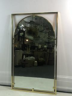 John Widdicomb Co Widdicomb Furniture Co MODERNIST BRASS FRAMED MIRROR DESIGNED BY JOHN WIDDICOMB - 1110246