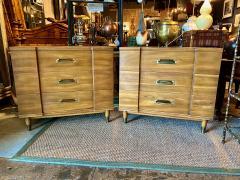 John Widdicomb Co Widdicomb Furniture Co Pair John Widdicomb Mid Century Walnut Chests of Drawers - 1916529