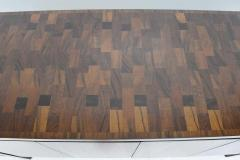 John Widdicomb Co Widdicomb Furniture Co Widdicomb Credenza or Sideboard in Walnut with Parquet Patterned Top - 1264309