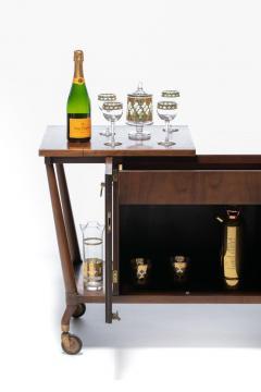 Johnson Furniture Bert England Forward Trend Mid Century Bar Cart for Johnson Furniture c 1960 - 2118803