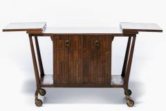 Johnson Furniture Bert England Forward Trend Mid Century Bar Cart for Johnson Furniture c 1960 - 2118804