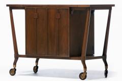 Johnson Furniture Bert England Forward Trend Mid Century Bar Cart for Johnson Furniture c 1960 - 2118807