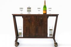 Johnson Furniture Bert England Forward Trend Mid Century Bar Cart for Johnson Furniture c 1960 - 2118808