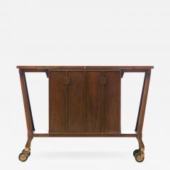 Johnson Furniture Bert England Forward Trend Mid Century Bar Cart for Johnson Furniture c 1960 - 2119618