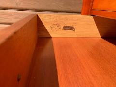 Johnson Furniture Pair of Paul Frankl for Johnson Furniture Cherry Nightstands with Nickel X Pulls - 1274703