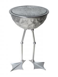 Johntomjoe Flamingo Ice Bucket Side Table in Gold Leaf by Johntomjoe - 542955