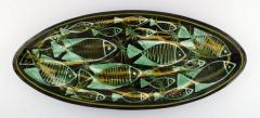 K hler Astrid Tjalk for K hler Oblong huge unique hand painted dish of pottery - 1217528