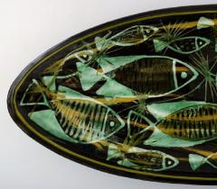 K hler Astrid Tjalk for K hler Oblong huge unique hand painted dish of pottery - 1217536