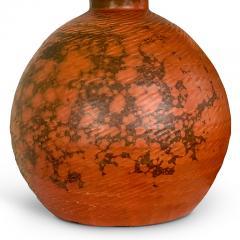 K hler Keramik Exceptional Table Lamp in Orange Burgundy Glaze by Kahler Keramik - 1258265