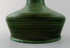 K hler Large glazed stoneware vase with narrow neck of modern design with stripes - 1217510