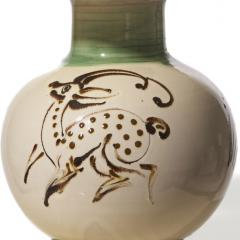 K hler Table lamp with quill painted deer figure by K hler - 1047581
