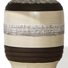 K ramos French Modernist Table Lamp with Textural Stripes by Keramos - 762893