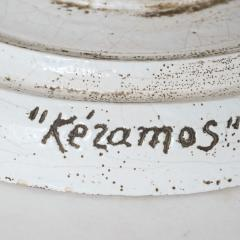 K ramos Rare Very Large Keramos Vase on Circular Pedestal Base - 803449