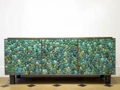 KAM TIN Sideboard in turquoise cabochon by KAM TIN - 971413