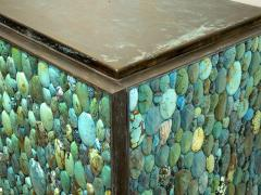 KAM TIN Sideboard in turquoise cabochon by KAM TIN - 971415