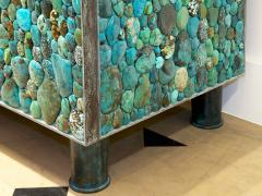 KAM TIN Sideboard in turquoise cabochon by KAM TIN - 971418